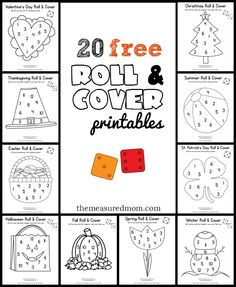 Roll and cover math games are one of my favorite ways to teach numbers. Love these freebies!