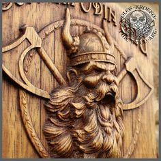Odin Viking Wood Picture Pagan Gods Mythology Icon Home Decor Art Norse Thor Carving Heathen Asatru Celtic Norse Rune Wall Hanging Viking Symbols, Viking Art, Viking Dragon, Norse Runes, Viking Designs, Pagan Gods, Wood Wax, Asatru, Norse Vikings