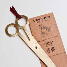 scissor bookmark/ruler