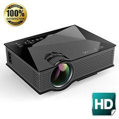 800lm LED Beamer Multimedia Projektor 1080p Heimkino 3D Movies USB//TF//AV//HDMI//IR