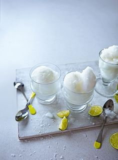 Round off your meal with this palate-cleansing citrusy frozen liqueur recipe.