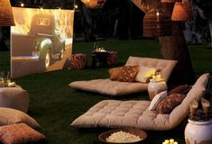 58 Super Ideas Backyard Movie Theater Diy Outdoor Projector 58 Super Ideas Backyard M Backyard Movie Theaters, Outdoor Projector, Layout, Romantic Places, Cottage Interiors, Outdoor Furniture Sets, Outdoor Decor, Backyard Landscaping, Cool Things To Make