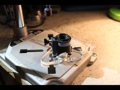 Simple and small Dremel router base attachment for making inlays. - YouTube