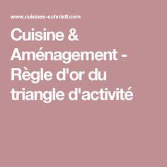 Cuisine & Aménagement - Règle d'or du triangle d'activité