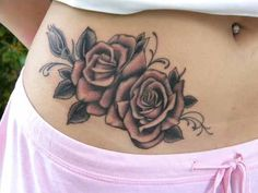 Hip Tattoo # 87 - Sexy rose tattoos on hip. Hip tattoos are mostly inked by flowers. Since flowers look sexy curvy parts of body rather than flat canvas of body:)