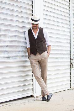 Tailored Waistcoat & Linen Pants | He Spoke Style | Bloglovin'