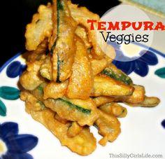 Tempura Veggies recipe from ThisSillyGirlsLife.com
