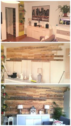 Pallet Wall Cladding / Paneling - Why We Love Pallet Projects (And You Should, Too!) | Pallet Furniture DIY - Part 4