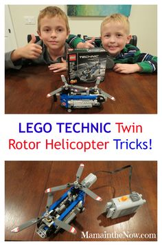 LEGO TECHNIC Twin Rotor Helicopter Review and Modification. Learn how to add a motor and battery box. Great STEM exercise.
