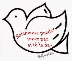 1.-  No hay camino para la paz, la paz es el camino . [ Mahatma Gandhi  (1869-1948) Político y pensador indio].   2.-  Los hombres constr...