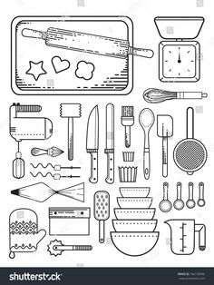 Find Baking Supplies stock images in HD and millions of other royalty-free stock photos, illustrations and vectors in the Shutterstock collection. Icon Tattoo, Kitchen Icon, Cupcake Tattoos, Wacky Cake, Banner, Baking Supplies, Tattoo Artists, Illustration, Cards