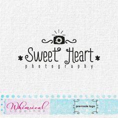 typographic photography logo by WhimsicalLogoShop on Etsy, £60.00 Whimsical Logo Design by Najla Mansour RotRed