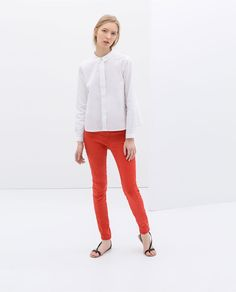 Image 1 of 1 POCKET COLORED TROUSERS from Zara