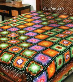 Facilite Sua Arte: Colcha 2 - Em módulos coloridos