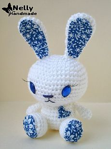Вязаный кролик.Схема с описанием