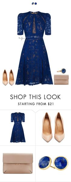 """""""Untitled #782"""" by mandyjeanb87 on Polyvore featuring Elie Saab, Maison Margiela, MANGO, Marco Bicego and Chaumet"""
