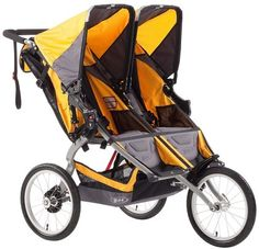 BOB Ironman Duallie - Yellow I'm not sure this can be used for a baby and a toddler.
