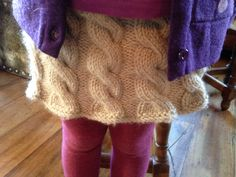 Cabled skirt Free pattern
