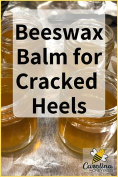 Balm - Make Your Own Make your own beeswax balm for cracker heels and dry skin. This homemade recipe only uses a few simple ingredients.Make your own beeswax balm for cracker heels and dry skin. This homemade recipe only uses a few simple ingredients. Beeswax Recipes, Salve Recipes, Soap Recipes, Homemade Beauty Products, Homemade Skin Care, Natural Products, Bee Products, Natural Foods, Cleaning Products