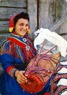 Lapland Dress and Traditional Baby Cradle by Striderv, via Flickr