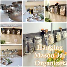 Build A Hanging Mason Jar Organizer - Homesteading  - The Homestead Survival .Com