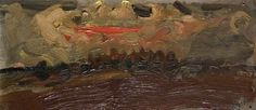 Autumn Sky, Catterline by Joan Kathleen Harding Eardley Oil on canvas, 11 x cm Collection: Dumfries and Galloway Council (Gracefield) Aberdeen Art Gallery, Dundee City, Gallery Of Modern Art, Summer Landscape, Art Uk, Large Painting, Museum Collection, Your Paintings, Amazing Art