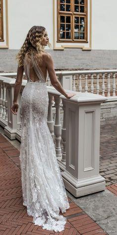 lian rokman 2018 bridal halter high neck full embellishment glamorous sexy elegant fit and flare sheath wedding dress keyhole back sweep train (4) bv -- Lian Rokman 2018 Wedding Dresses #weddingdress