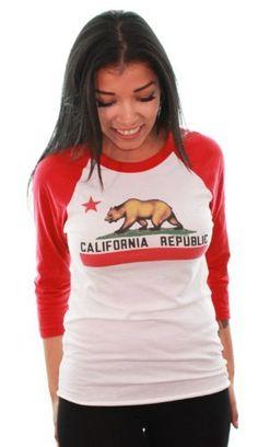 California Republic Baseball Sleeve Raglan Jersey by Dolphin Shirt Co California Republic, California Travel, Summer Swag, Valley Girls, American Apparel, Cool T Shirts, Cute Outfits, My Style, Tees