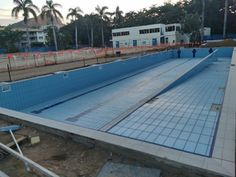 Tobruk Memorial Baths in Townsville, QLD, has been undergoing construction. Quarry Tiles, Stone Tiles, Pool Tile Company, Cement Grout, Leisure Pools, Thin Brick, Portland Cement, Heated Pool