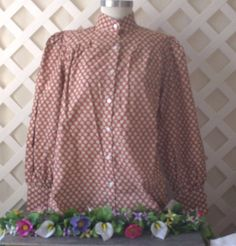 436d54467ade9d Vintage Inspired Victorian Style High Neck Cotton Blouse by Frontier  Classics L #FrontierClassics #Victorian