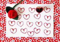 stempelen voor valentijnsdag