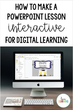 How to Make a PowerPoint Lesson Interactive For Digital Learning Lista com dicas e tutorias de: , Teaching Strategies, Teaching Tips, Learning Resources, Interactive Learning, Teaching Technology, Educational Technology, Technology Integration, Google Classroom, Powerpoint Lesson