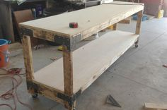 This weekend we built the first of four heavy duty workbenches for the OPC workshop!This project was very simple, and the design works not only for a workbench (as we're using it), but also for sturdy storage shelves in a basement or garage. We built a two-shelf bench, but this design can be easily modified …