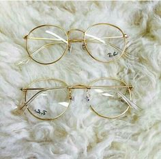 Gold clear ray bans