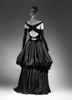 A black evening dress from 1948.