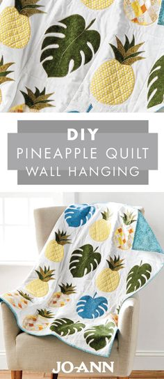 This Pineapple Quilt Wall Hanging makes transitioning your home into summer decor so much fun! With palm leaves and bright colors, this handmade decoration will instantly liven up your living room.