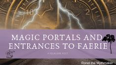 "Most of the time, portals that lead to the eerie, seldom visited and sought after hidden places are called ""magic portals"". Only an elite few even know of their location, which they jealously guard… Nature Spirits, Crystal Ball, Folklore, Faeries, Portal, Entrance, Legends, Unicorn, Mermaid"