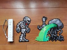 """sound Mars people make when they die. Metal Slug Mummy and Mars people hama beads Pac Man, Bead Crafts, Diy And Crafts, Peler Beads, Pixel Pattern, Perler Bead Art, Perler Patterns, Weird Art, Pokemon"
