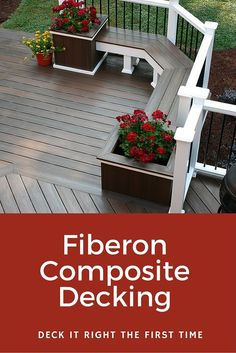 Love this look? Get a sample and start designing your custom outdoor living space. Choose from over 20 different color, streaking and grain pattern options. Fiberon composite deck and railing products are eco-friendly, low maintenance, and stand up against the elements better than wood. Visit us at fiberondecking.com: