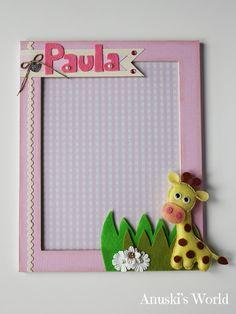 Marco de fotos de beb personalizado para elia anuski s - Album de fotos personalizado ...