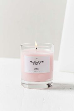 Gourmand Candle in Macaron Rose, a beautiful millennial pink colour. Rose Candle, Candle Jars, Candle Shop, Bougie Candle, Candle Gifts, Candle Holders, Macarons Rose, Bougie Rose, Millenial Pink