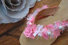 Greek leather sandals/ flip flops. Bridal by AllAboutEveCreations