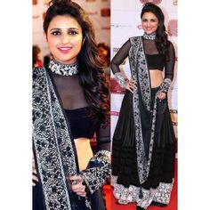 Online Shopping for Pariniti Chopra Black Bollywood Rep | Lehnga | Unique Indian Products by bestbollywoodreplica - MBEST85733486000