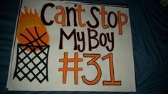 Basketball poster senior night