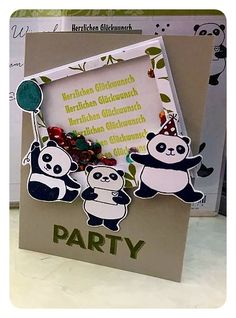 Party Pandas, #SAB2018, Schüttelkarte
