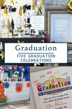 Celebrate your graduate with inspiration from Everyday Party Magazine #GradParty #ClassOf #Graduation