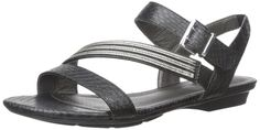 LifeStride Women's Enchant Flat Sandal, Black, 9 M US. LifeStride soft system technology. Flexible sole. Traction outsole.