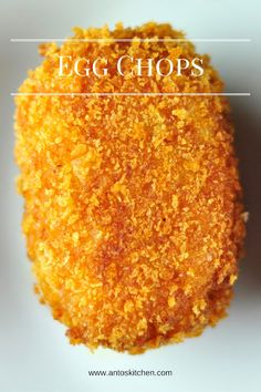 Egg chops - A crispy and delicious snack with egg and potato. Egg chops is an easy and delicious snack with boiled eggs, breadcrumbs and potato. Boiled egg covered with mashed potatoes, coated in bread crumbs and fried. Veg Recipes, Curry Recipes, Vegetarian Recipes, Cooking Recipes, Goan Recipes, Diabetic Recipes, Salad Recipes, Egg Recipes Indian, Yummy Snacks