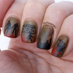 No Nude Nails: A stampaholic's nail art blog: The Walking Dead !