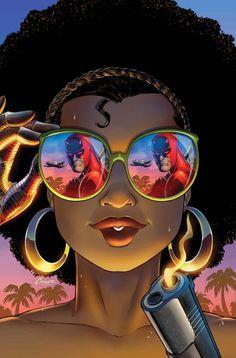 Daredevil: Dark Nights 8 Cover: Misty Knight, Daredevil Marvel Comics Wall Decal - 30 x 46 cm Black Girl Art, Black Women Art, Black Girl Magic, Art Girl, African American Art, African Art, Comic Kunst, Comic Art, Comic Books